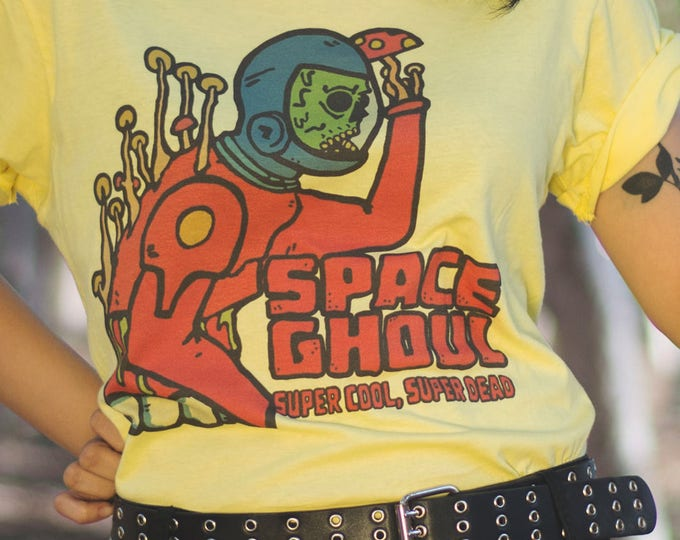 Featured listing image: Space Ghoul - Retro Sci-fi inspired tee