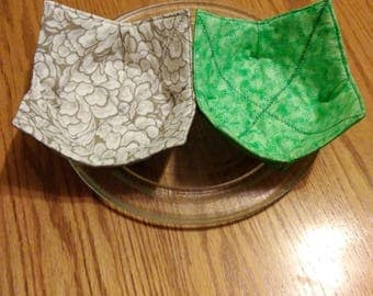 Microwave Bowl Cozy's Medium / Handmade Microwave Hot Pads, Cloth Trivets / Sold Separately