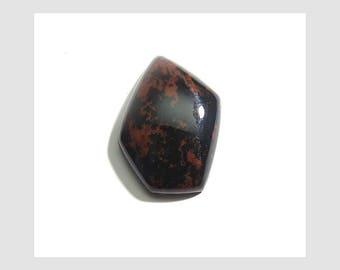 26 Cts 28X19X7mm Mahogany Obsidian Loose Gemstone Cabochon Fancy Shape Top Quality Mahogany Obsidian Gemstone