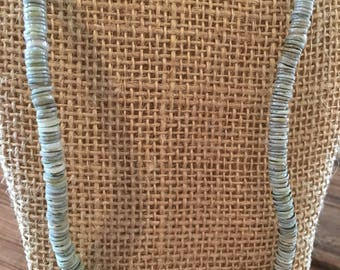 grey puka bead necklace
