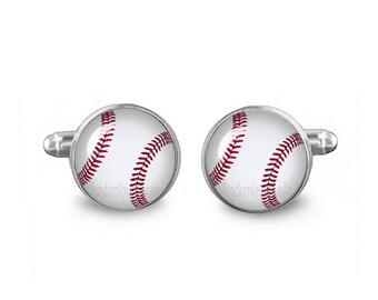 Baseballs Cuff Links Baseball Cufflinks 16mm Sports Cufflinks Gift for Men Groomsmen Novelty Cuff links Fandom Jewelry