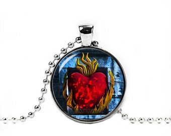 Game of Thrones Necklace Lord of Light Pendant Burning Heart R'hllor Necklace