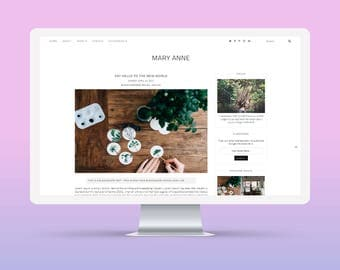 SALE! Mary Anne | Responsive Minimalist Premade Blogger Template