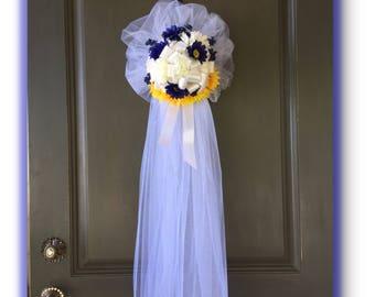 Décoration de mariage pour mariée douche ou vestiaire porte