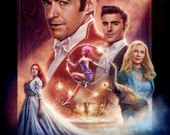 The Greatest Showman  Hugh Jackman, Michelle Williams, Zac Efron movie poster