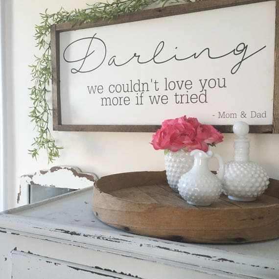 Love you more , Rustic Sign, Fixer Upper Style, Kitchen Decor, Farmhouse Style Decor, Gallery Wall, Script Font