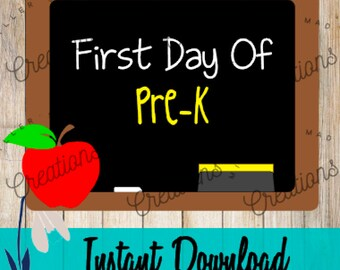 First Day of Pre-K Svg, First Day of School Svg, First Day of Prek Svg, Pre-k Shirt Svg, First Day of Preschool Svg, Preschool Shirt Svg
