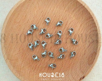 10mm Stainless Steel Lobster Clasp Lobster Claw Clasp 100 PCS Jewelry Findings Jewelry Making Supplies