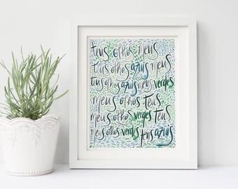 Personalized Poem Art, Custom Quote Artwork, Wall Art Gift Ideas, Personalized Gift Idea, Comission Art