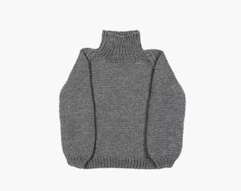 Hand knit sweater, women's sweater, soft warm handmade knit, women's pullover, sweater women, adult clothing, men clothing, handmade knit
