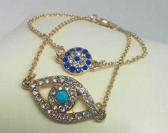 Evil Eye Bracelet Set | evil eye jewelry | gold bracelet | boho bracelet | evil eye charm | stacking bracelet | protection bracelet | hamsa