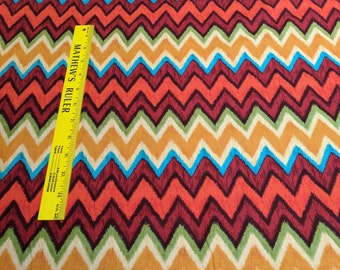 IKAT Chevron-Red-Cotton Fabric from Michael Miller