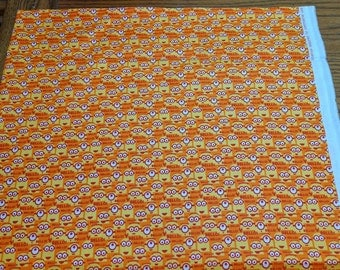 Orange Bellow! 1 In a Minion Cotton Fabric from Quilting Treasures