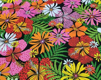 Flip Flop Island-Flowers Cotton Fabric from Exclusively Quilters