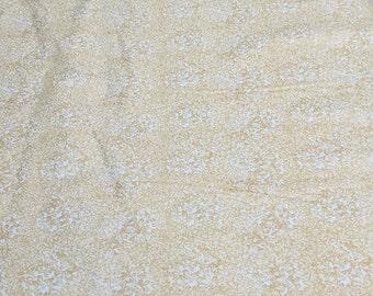 Fusions Metallic-Cream Cotton Fabric from Robert Kaufman Fabrics