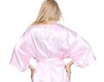 Bridesmaid Light Pink Silk Robe