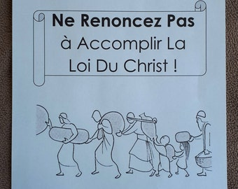 FRENCH Teen/Adult Circuit Assembly JW Don't Give Up in Fulfilling the Law of Christ Ne Renoncez Pas L'assemblée De Circonscription