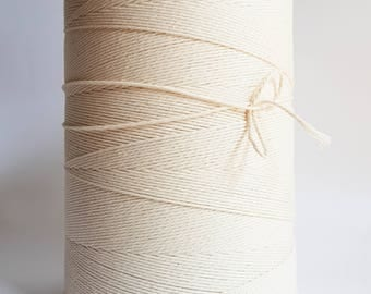 5 /64in Twisted cotton rope 2mm Macrame cord for DIY projects; 3 kg Cotton cord. About 2000 m length cotton cord rope. EXPRESS SHIPPING
