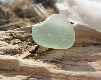 "Perfectly Smoothed Flawless Genuine Light Aqua Green Sea Glass piece-Size 0.75""-Jewelry Quality-Rare Sea Glass-Pendant size sea Glass#J501#"