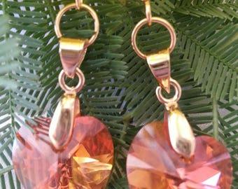 SWAROVSKI Crystal - Heart earrings-