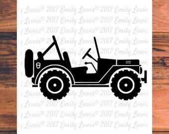 jeep svg - jeep cut files - jeep clipart - jeep decals - jeep vector - jeep svgs - svg files - cricut files - cameo - scrapbook - shirt svgs