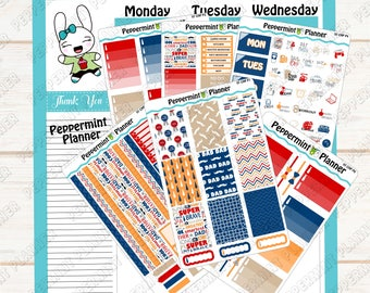 Father's Day Weekly Kit --- Planner Stickers --- A La Carte --- Will fit in your CHP --- CHP07