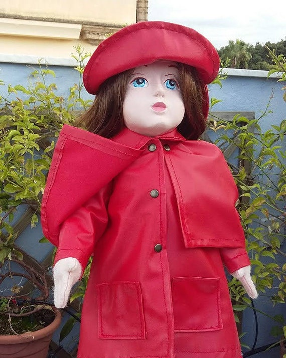 Raincoat and hat for 18 inch doll