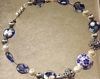 Blue Tea Cup Bracelet