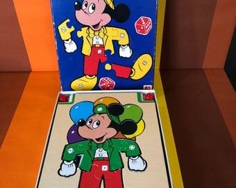 Vintage Jumbolino Walt Disney Mickey Mouse Jumbo Game 1980