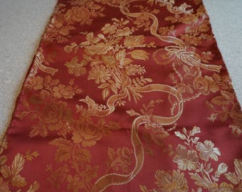 Luxury  Gold/Red Damask Brocade Table Runner/Luxury Wedding Table Runner/Chemin de table toute occasion/All Occasions Table Runner