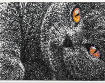 Embroidered Art - Black Cat, Black Cat
