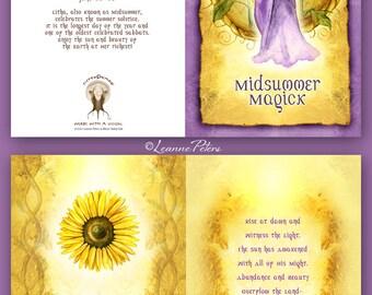 Midsummer - Litha - High Holiday - Sabbat Card