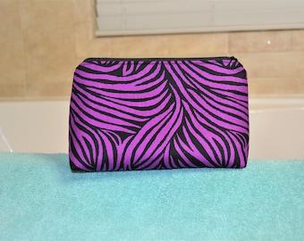 Cosmetic Case - Purple Zebra Pattern