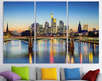 Frankfurt Art Frankfurt Skyline Frankfurt Wall Art Frankfurt Print Frankfurt Wall Decor Frankfurt Photo Frankfurt Poster Frankfurt Canvas