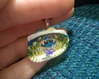 Baby Dory necklace, painted, jewelry, Disney, finding Nemo, dory, handmade