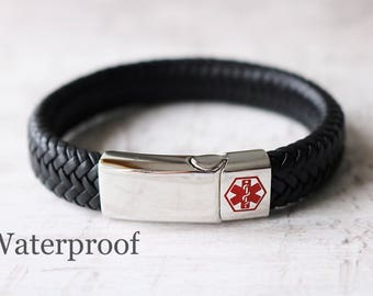 Medical Alert Bracelet - Waterproof Medical Alert Bracelet