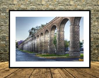 Aqueduct of Guadalajara,Mexico,Instant Download                             ,Mexico,Wall Decor,Printable Art,Canvas Print,Mexico Posters