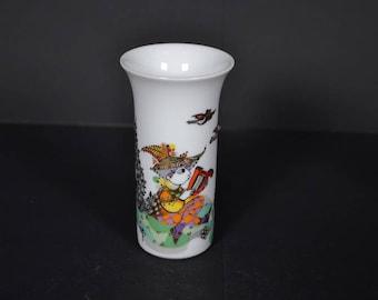 Rosenthal porcelain vase -  Bjorn Wiinblad - Germany - Studio Linie - Concertina Series (1)