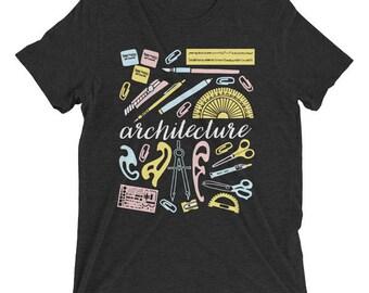 Gift for Architect, Architect Tee, Architect Tshirt, Architect Gift, Architecture Gift, Architect Student Gifts, Unisex Shirt, Black Tee