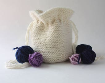 Knitted Bag / Large Dice Pouch