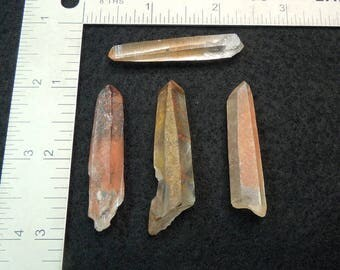 Muzo Habit Qyartz Crystals with Hematite from Madagascar