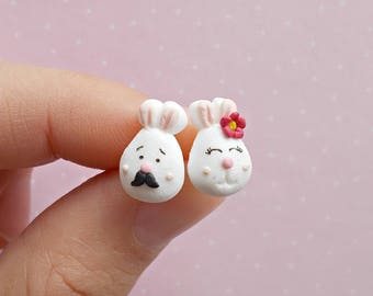 Bunny Earrings - Easter Earrings - Bunny Earrings - Rabbit Jewelry - Rabbit Lover Gift - Easter Gift