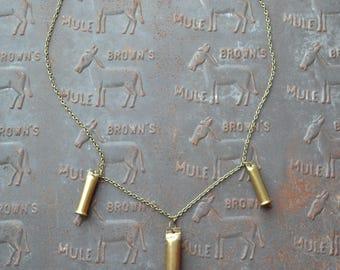 Triple Bullet Casing Necklace