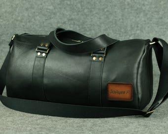 Big  Sport Bag / Leather Travel Bag, Leather Overnight Bag, Gym Leather Bag, Leather Duffle Bag, Leather Luggage Bag, Duffle Bag, Mens Bag