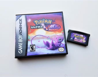 Pokemon Ultra Violet Version Gameboy Advance GBA SP w/ Custom Case US Seller (English Hack)