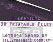 Voltron Prop Lotor Sword ...