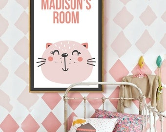 Kitty Personalized Children's Poster
