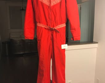 Vintage 1970's Ski Suit