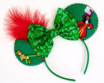 The Return to Neverland - Handmade Peter Pan Inspired Mouse Ears Headband