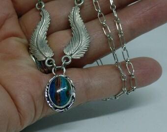 Calsilica Necklace, Rainbow Calsilica Necklace, Sterling Silver Calsilica Necklace, Ladies Calsilica Necklace, 925, Under 100, 1495